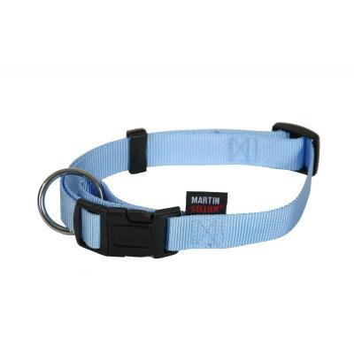 Collier Nylon Réglable 16-30/45 Bleu - Martin Sellier