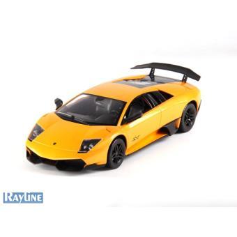 Voiture Radiocommandee Lamborghini Murcielago Lp670 Sv Jaune 1 14