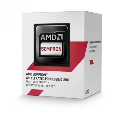 Sempron 3850 Quad-Core (1.30 GHz) with Radeon R3 Series, 2MB L2 Cache, 28nm, Socket AM1, 25W Caractéristiques : - Famille de processeur : AMD Sempron - Vitesse du processeur : 1,3 GHz - Nombre de coeurs de processeurs : 4 - Processeur bus système : 1600 M