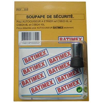 Kitchen move 355 soupape de sécurité pour autocuiseur etrier batimex 6,8/10 l diamètre 22/24 cm