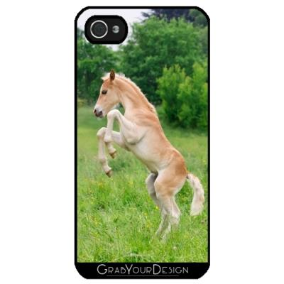Coque pour Iphone 4 4S Haflinger Poulain Cheval elevage By Katho Menden