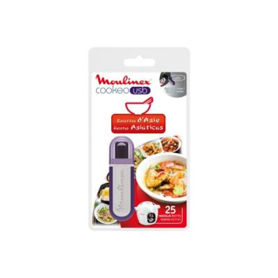 Cuiseur vapeur MOULINEX Clé USB COOKEO- 25 recettes d'Asie