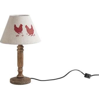 Lampe Bois Et Metal Achat Prix Fnac