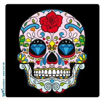 cr nes poster sticker autocollant t te de mort mexicaine. Black Bedroom Furniture Sets. Home Design Ideas