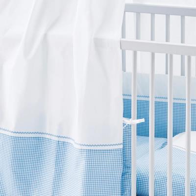 Ciel pour lits de bébé Vichy bleu - Pinolino