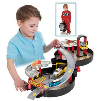 circuit de voitures garage facilement transportable forme roue garage achat prix fnac. Black Bedroom Furniture Sets. Home Design Ideas