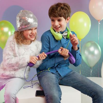 auna Flexi Casque enfant 85 dB max. pliable et flexible vert