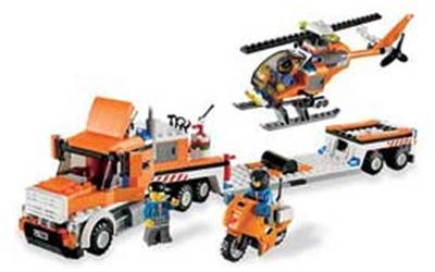 7686 Le transport de l'hélicoptère, Lego City