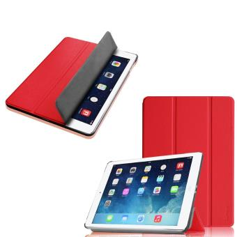 good selling the best cheapest Etui Apple iPad Air 2 (iPad 6) (Wifi/4G/LTE) Smartcover pliable rouge Cuir  Style avec stand - Housse coque de protection nouvel Apple iPad Air 6 rouge  ...