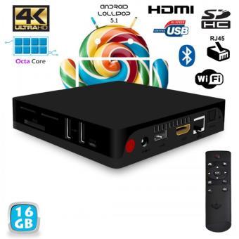 mini pc android tv box passerelle multim dia 4k octa core 2go ram 16go lecteur multim dia. Black Bedroom Furniture Sets. Home Design Ideas