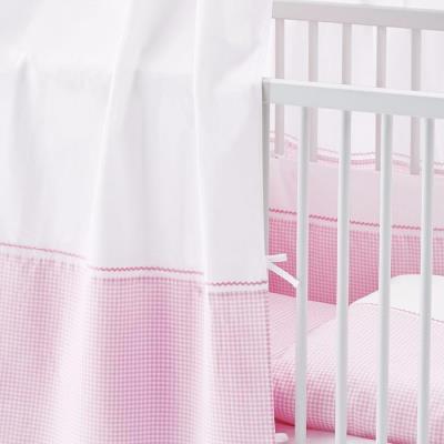 Ciel pour lits de bébé Vichy rose - Pinolino