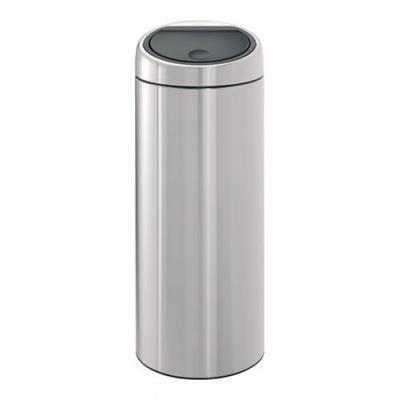 Brabantia - poubelle touch bin - couleur acier mat - 30 litres
