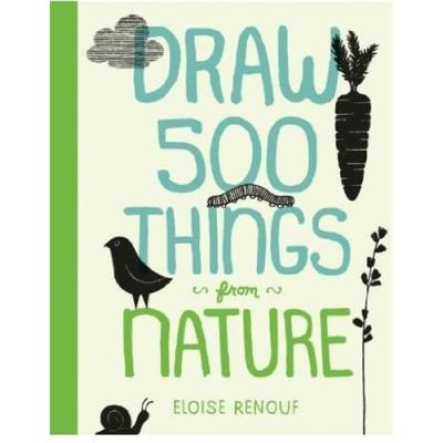Draw 500 Things From Nature /Anglais