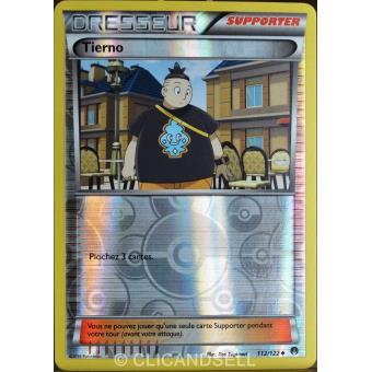 Carte Pokemon TIERNO 112//122 Reverse XY9 Rupture Turbo FR NEUF