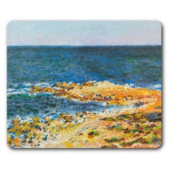 Claude Monet Tapis De Souris Le Grand Bleu à Antibes 1888 19x23