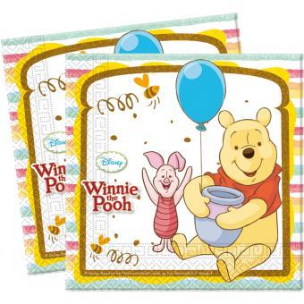 Serviettes Winnie L Ourson X16 Decoration Anniversaire Article