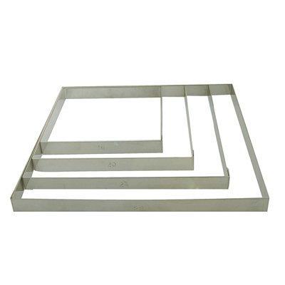 DeBuyer - Cercle à tartes carré en inox, Longueur 28 cm