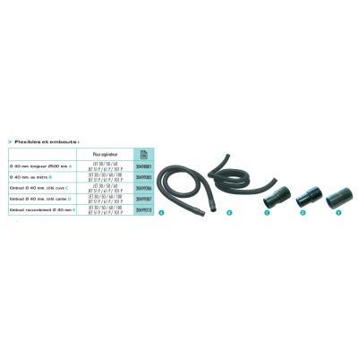 Sidamo - Flexible Ø 40 mm, longueur 2500 mm pour Aspirateur Sidamo Jet 30-50-60-100 - 20498001