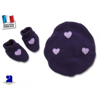 Béret et chaussons bébé, polaire violet 0-1 mois Couleur - Violet - Autres  cadeaux naissance - Achat   prix   fnac d92e1630c62