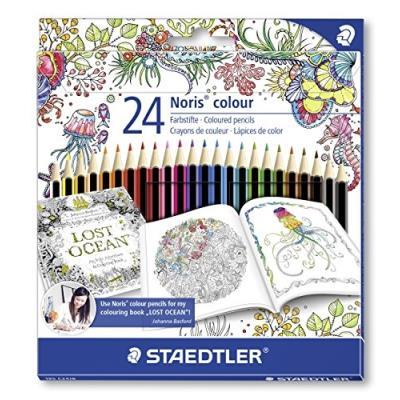 Noris Couleur Johanna Basford-Crayons De Couleur-Lot De 24 Noris Colour 185 C24Jb