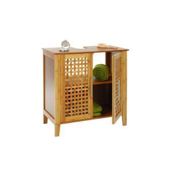 Meuble Dessous De Lavabo évier En Bambou Rangement Salle De Bain