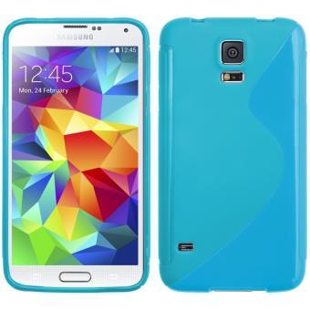 coque samsung galaxy s5 bleu