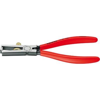 Pince à dénuder, tête polie, poignées à gaine en plastique, acier spécial à outils KNIPEX, Long. : 160 mm