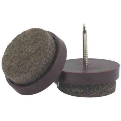 PVM - Patin feutre marron à clouer Ø 22 mm - Lot de 4