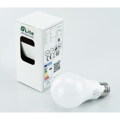 Halogèneclasse Blanc Gradable 650lm Ampoule Chaud E27 Énergétique Angle 50w A 6w 2700k Équivalent A60 270° Non Led Finition PiuOZkX