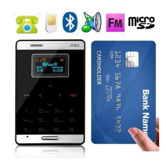 22 10 sur mini t l phone portable d bloqu format carte bleue mobile noir t l phone portable. Black Bedroom Furniture Sets. Home Design Ideas