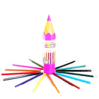 Les Trésors De Lily M4683 16 Crayons De Couleur Coloriage Rose