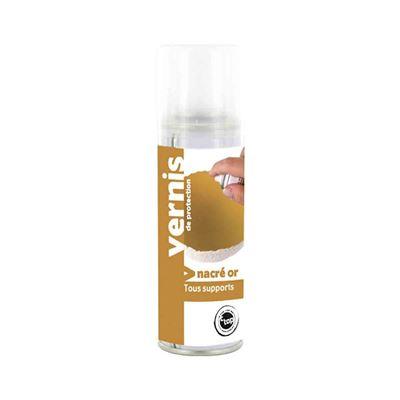 Vernis nacré doré spray 125 ml - megacrea