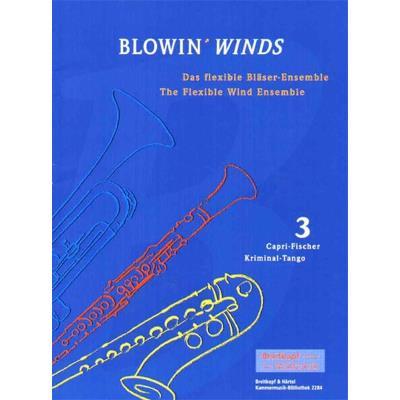 Partitions classique EDITION BREITKOPF SEBASTIAN PETER BLOWIN´ WINDS HEFT 3 WIND INSTRUMENTS ENS Ensemble vents