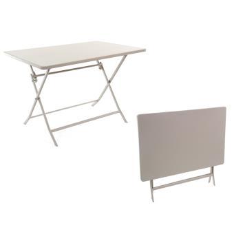 Table de jardin Hespéride rectangle Greensboro 110 x70 cm Taupe ...