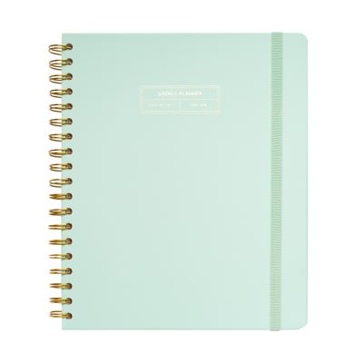 Agenda Scolaire Semainier 2019/2020 Grand Format Basic Mint Wire-O Anglais