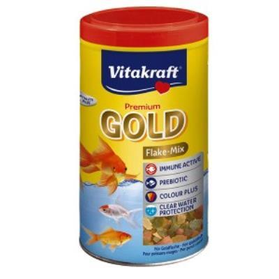Gold Aliment En Flocons Pour Poissons Rouges 1 L - Vitakraft