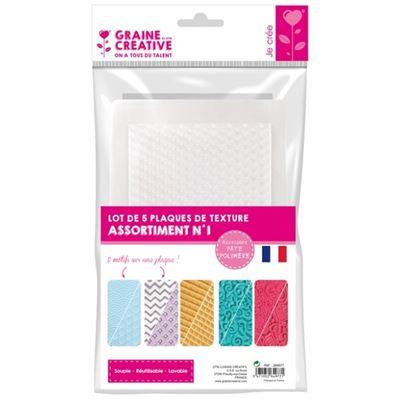 Plaques de texture (1) 5 pièces - graine créative