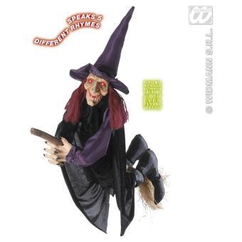 Decoration Sorciere Halloween.Sorcière à Suspendre Lumineux Et Sonore Décoration Halloween