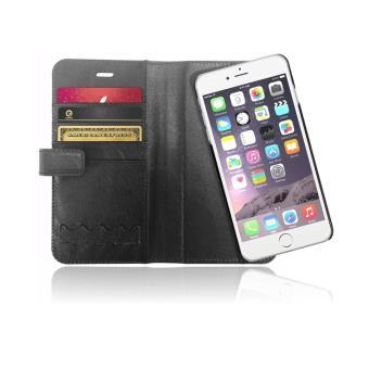 Etui Portefeuille Cuir Veritable avec coque protection amovible magnetique pour iPhone 6s Plus 6 Plus