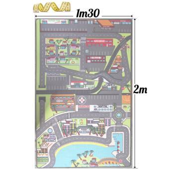 Tapis Enfant Tapitom Circuit De Voitures Dans La Ville 130 X 200