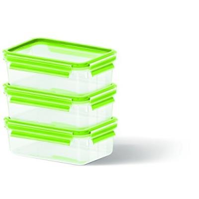 Emsa boîte - 3 pièces-vert-système de fermeture à clip &lanami set-boite fraicheur conservation-produit neuf vendu dans son emba