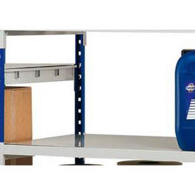 Lot 3 plaques pour rayonnage Rang Eco + en métal - Dimensions L100 x H7 x P60 cm coloris acier