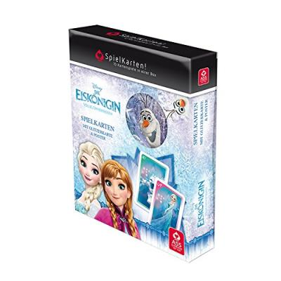 Ass altenburger 22577501 - cartes à jouer, la reine des neiges, bleu/blanc