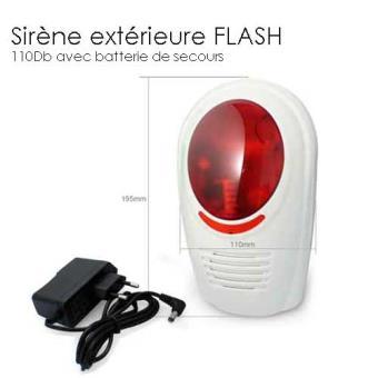 SIRENE ALARME EXTERIEURE GX Avec Flash Équipements Et Sécurité - Alarme maison sirene exterieure