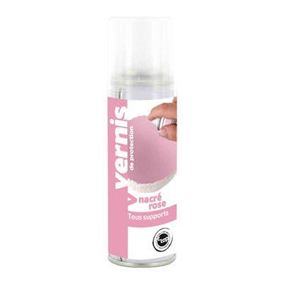 Vernis nacré rose spray 125 ml - megacrea