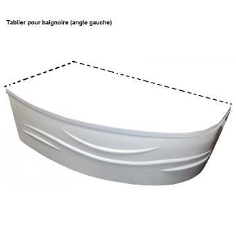 aqua tablier pour baignoire acrylique angle gauche. Black Bedroom Furniture Sets. Home Design Ideas