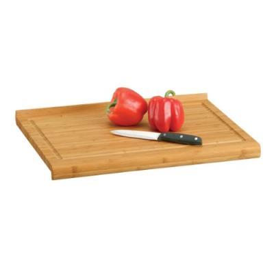 Zeller 2057769 planche à découper avec rebord en bambou marron 48 x 38 x 3 cm