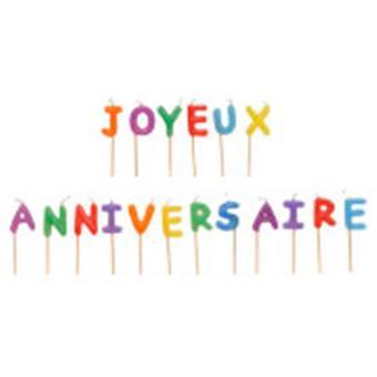 Bougies Joyeux Anniversaire Bougie D Anniversaire Article De Fete Achat Prix Fnac