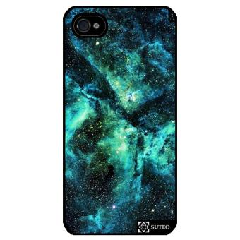 Coque Iphone 4 4S Galaxie Vert ref 660