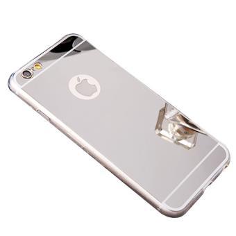 Coque bumper antichoc effet miroir pour Apple iPhone 5 5s argente
